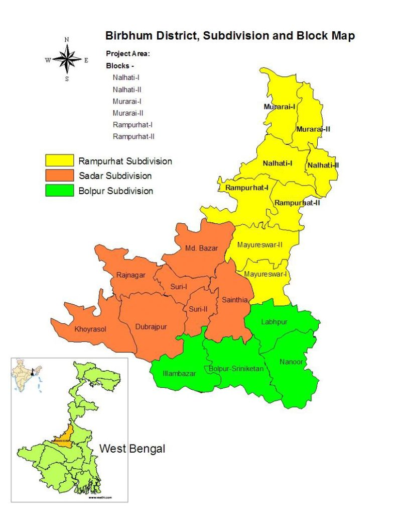 Birbhum District Map